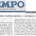 Nightmares of the concentration camp - Rassegna Stampa - Il Tempo