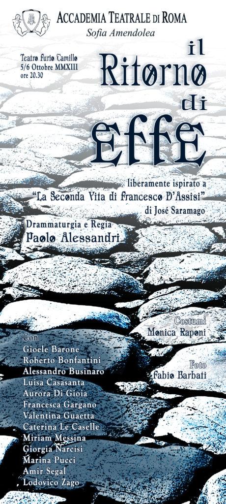 Il ritorno di Effe – Accademia Sofia Amendolea - Locandina