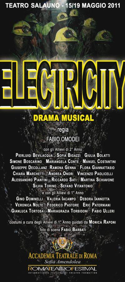 Electricity – Accademia Sofia Amendolea - Locandina