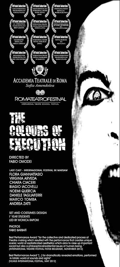 the colours of execution – Accademia Sofia Amendolea - locandina