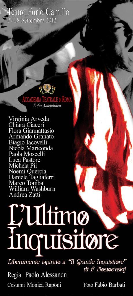 L'ultimo Inquisitore – Accadema Sofia Amendolea - Locandina