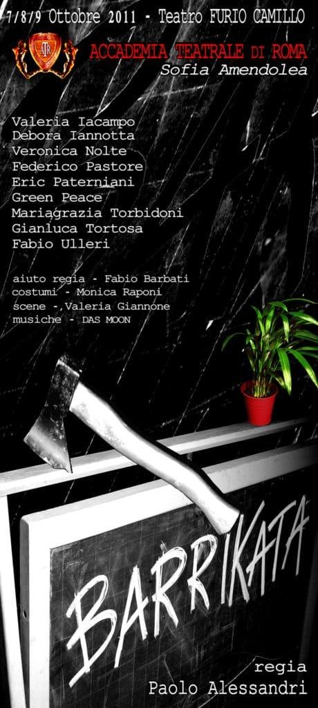 Barrikata – Accademia Sofia Amendolea - Locandina