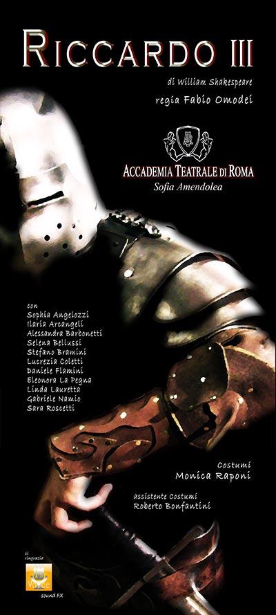 Riccardo III – Accademia Sofia Amendolea - Locandina