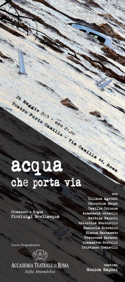Acqua che porta via - Spettacolo corso serale Accademia Sofia Amendolea