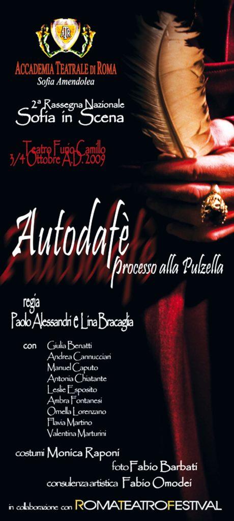 Autodafè – Accademia Sofia Amendolea - Locandina