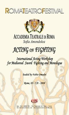 Accademia SOfia Amendolea Certificato di spada