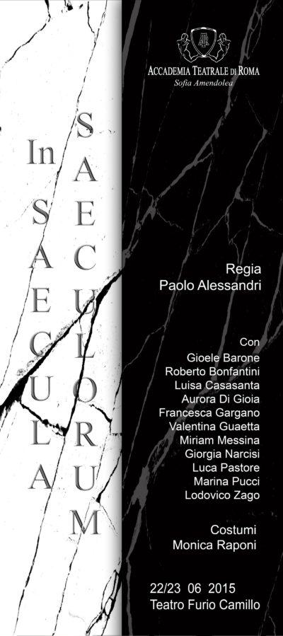 In Saecula Saeculorum – Accademia Sofia Amendolea - Locandina